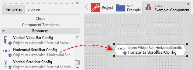 Using Widgets: Horizontal Scrollbar