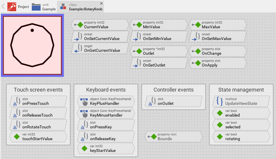 Working with Embedded Wizard: Creating components from templates